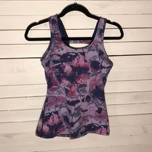 Artsy Purple Actra Workout Tank